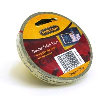 SELLOTAPE DOUBLE SIDED TAPE 12MM X 15M