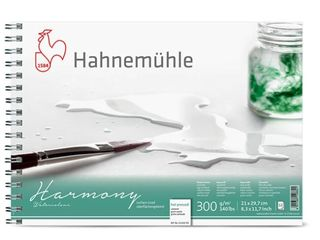 HAHN HARMONY WATERCOLOUR 300G HP SPIRAL PAD A4
