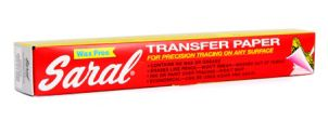 SARAL TRANSFER PAPER ROLL 366X30CM WHITE