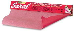 SARAL TRANSFER PAPER ROLL 366X30CM RED