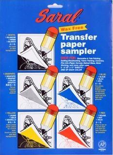 SARAL TRANSFER PAPER SAMPLER SHEETS PKT5