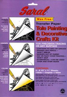 SARAL TRANSFER PAPER TOLE & CRAFT PKT5