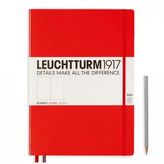LEUCHTTURM1917 NOTEBOOK LRG SLIM PLN RED
