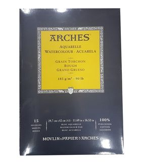 ARCHES WATERCOLOUR PAD 185G R 15 SHT A3