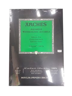 ARCHES WATERCOLOUR PAD 300G CP 12 SHT A3