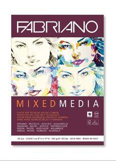FABRIANO MIXED MEDIA 250G PAD A4 40SHT