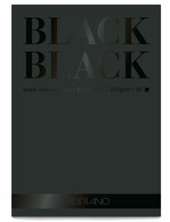 FABRIANO BLACK BLACK 300G PAD A4