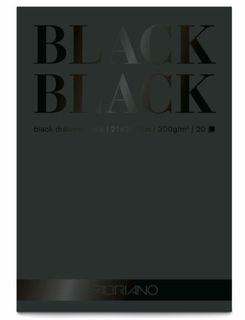 FABRIANO BLACK BLACK 300G PAD A3