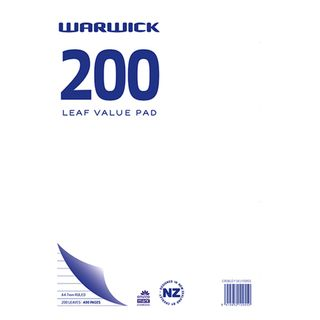 WARWICK VALUE PAD 7MM RULED A4 200LF