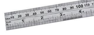 """STAINLESS STEEL RULER 40"""" / 1000MM"""