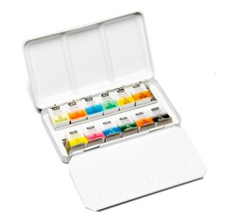 PEBEO WATERCOLOUR POCKET METAL BOX 12 HALF PAN