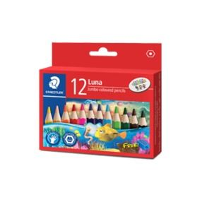 STAEDTLER LUNA JUMBO PENCIL SET 12 HALF LENGTH