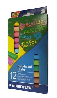 STAEDTLER BLACKBOARD CHALK COLOUR PKT12