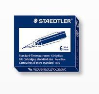 STAEDTLER FOUNTAIN PEN INK CART/6 R/BLUE