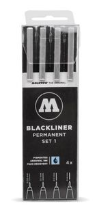 MOLOTOW BLACKLINER SET 4 #1 (0.05, 0.1, 0.2, 0.4)
