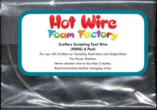HOT WIRE FOAM CRAFT SCULPTING WIRE PKT 6