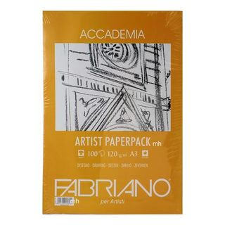 FABRIANO ACCADEMIA DRAWING PAPER 120G A3 PACK 100