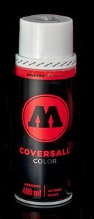 MOLOTOW COVERSALL COLOR SPRAY 400ML SIGNAL WHITE