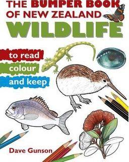 BUMPER BOOK NZ WILDLIFE READ AND COLOUR