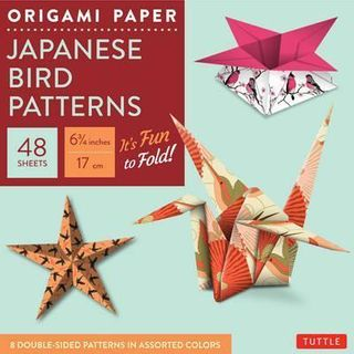ORIGAMI PAPER JAPANESE BIRD PATTERNS SMALL