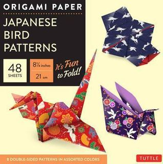 ORIGAMI JAPANESE BIRD PATTERNS LARGE