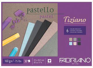 FABRIANO TIZIANO 160G PASTEL PAPER PAD A4 FLECKED