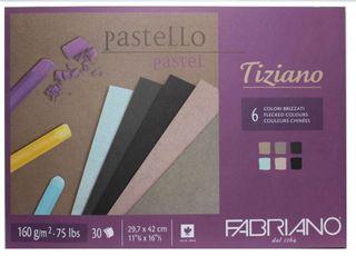 FABRIANO TIZIANO 160G PASTEL PAPER PAD A3 FLECKED