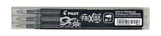 PILOT FRIXION ERASABLE FINE REFILL BLACK 3 PACK