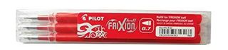 PILOT FRIXION ERASABLE REFILL FINE RED 3 PACK