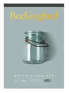 BOCKINGFORD WATERCOLOUR PAD 200GSM CP A4