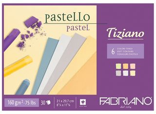 FABRIANO TIZIANO 160G PASTEL PAPER PAD A4 SOFTS