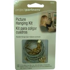 PICTURE HANGING KIT - WIRE/HOOKS/EYES