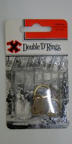 PICTURE D RING BRASSED DOUBLE HOLE PKT2