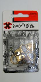PICTURE D RING BRASSED SINGLE HOLE PKT4