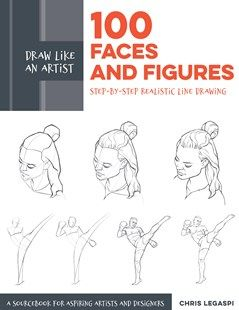 100 FACES AND FIGURES REALISTIC LINE DRAWING