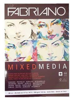 FABRIANO MIXED MEDIA 250G PAD A3 40SHT