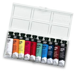 PEBEO GOUACHE TEMPERA SET 10 X 10ML TUBE