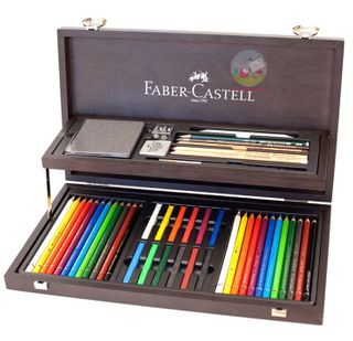 FABER ART & GRAPHIC COMPENDIUM WOODEN CASE SET
