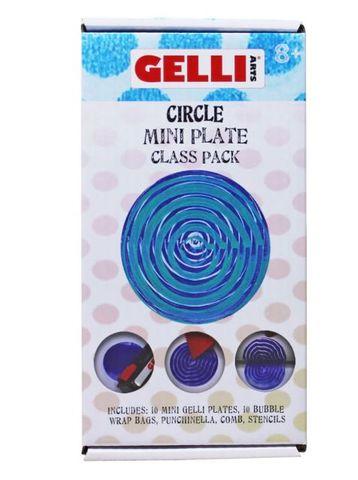 GELLI PRINTING MINI PLATE CLASS PACK (10) CIRCLE