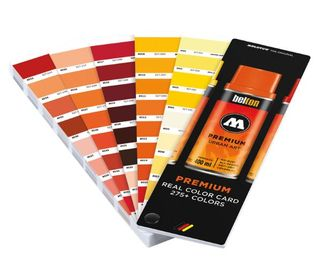 MOLOTOW REAL COLOR CHART FAN 275 COLOURS