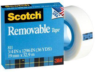 SCOTCH REMOVABLE 811 MAGIC TAPE 19MMX33M