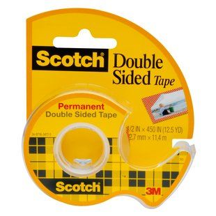 SCOTCH 137 DOUBLE SIDED TAPE 12.7MMX11.4M