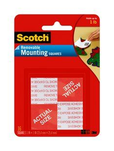 SCOTCH REMOVABLE MOUNTING SQUARES 108