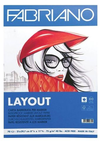 FABRIANO BLEEDPROOF PAPER MARKER LAYOUT PAD A3