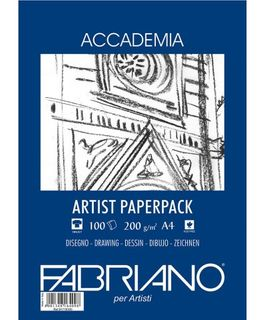 FABRIANO ACCADEMIA DRAWING PAPER 200G A4 PACK 100