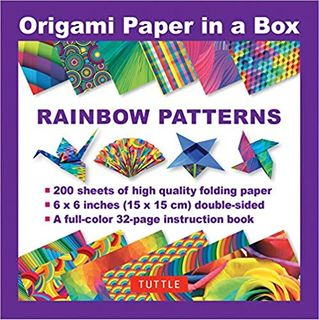 ORIGAMI PAPER 200 SHEETS RAINBOW PATTERNS