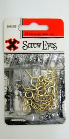 BAYONET SCREW EYES BRASSED 24 ASST S/M/L