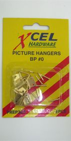 XCEL PICTURE HANGING TABS #0 PKT6