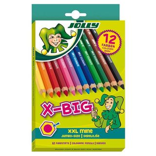 JOLLY X-BIG COLOUR PENCIL SET 12 ASSORTED