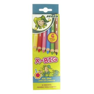 JOLLY X-BIG COLOUR PENCIL SET 6 ASSORTED